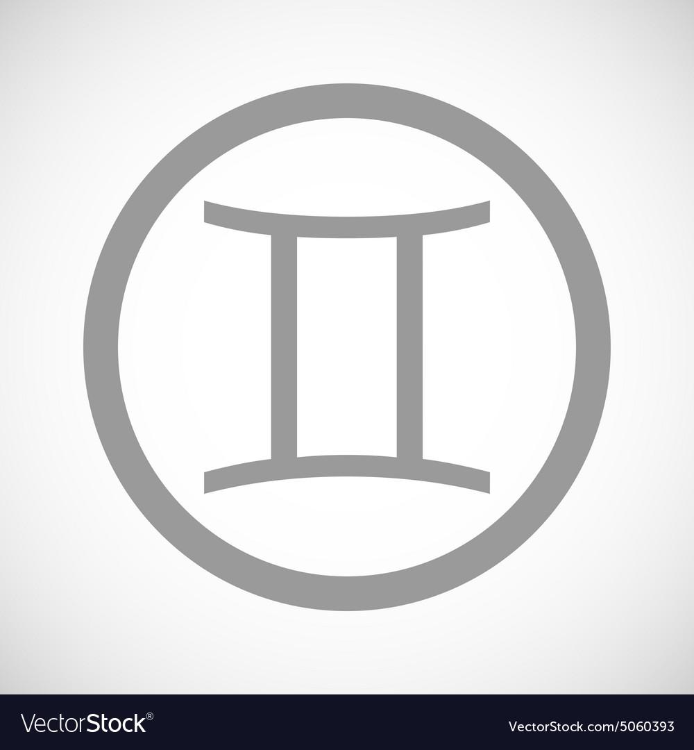 Grey gemini sign icon royalty free vector image grey gemini sign icon vector image buycottarizona