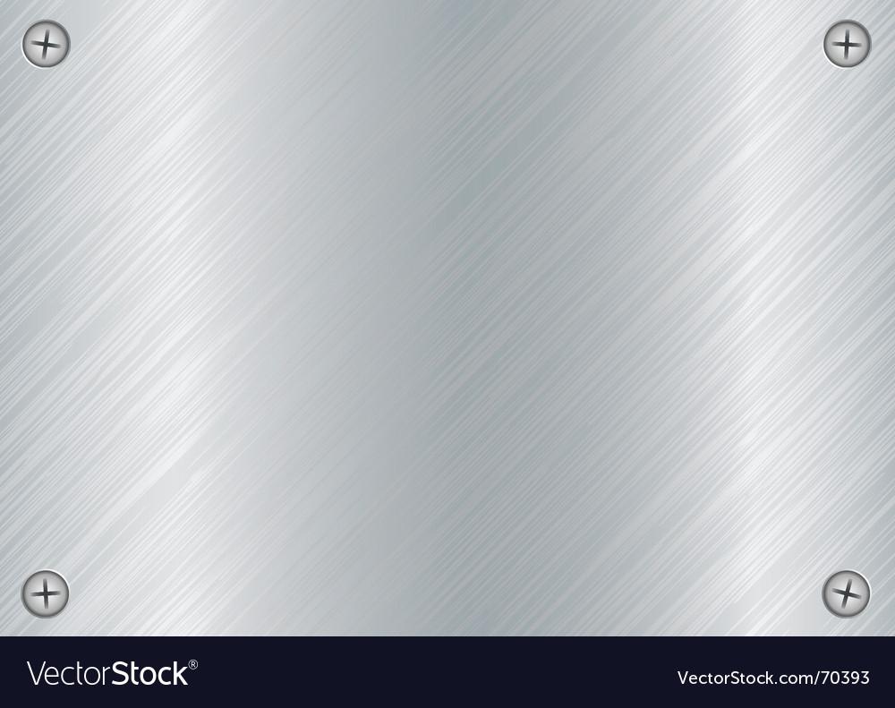 Metal screw plate vector image