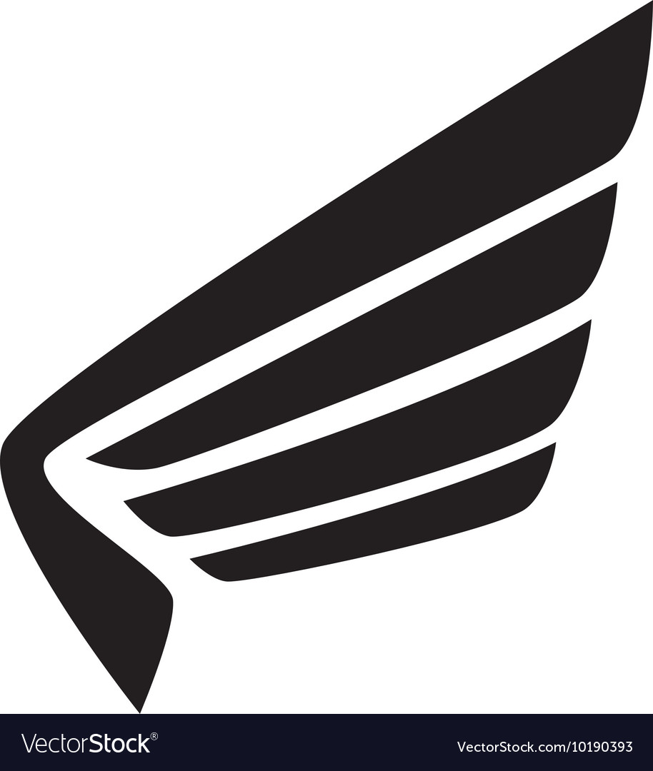 Wing modern strippes icon graphic vector image
