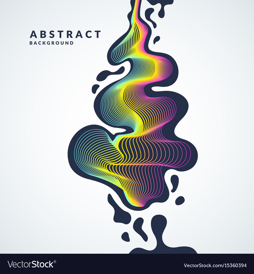 Abstract background with a dynamic waves lines vector image