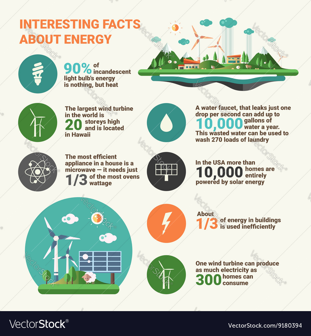 Ecology facts - infographics educational poster vector image