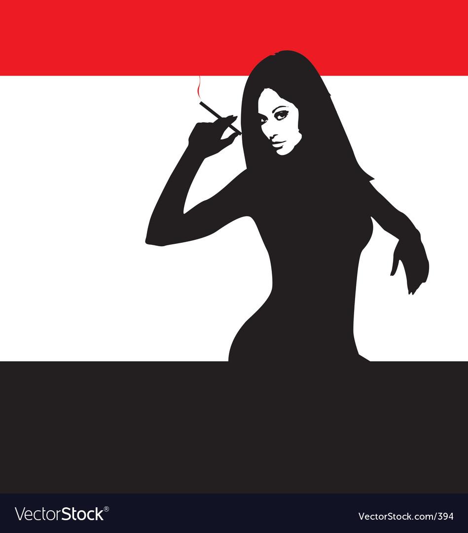 Smoking gal vector image