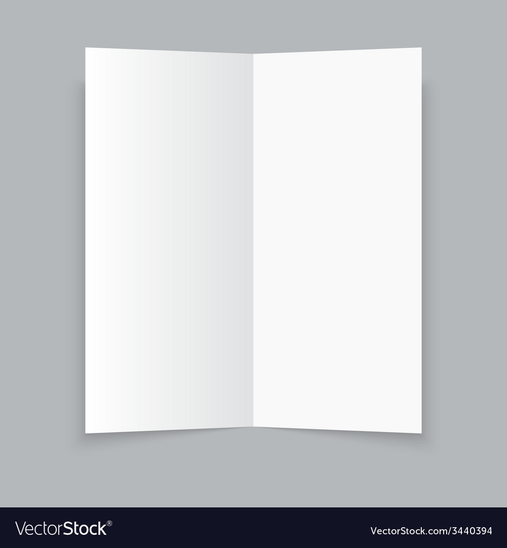White Stationery Blank Trifold Paper Brochure On Vector Image  Blank Brochure