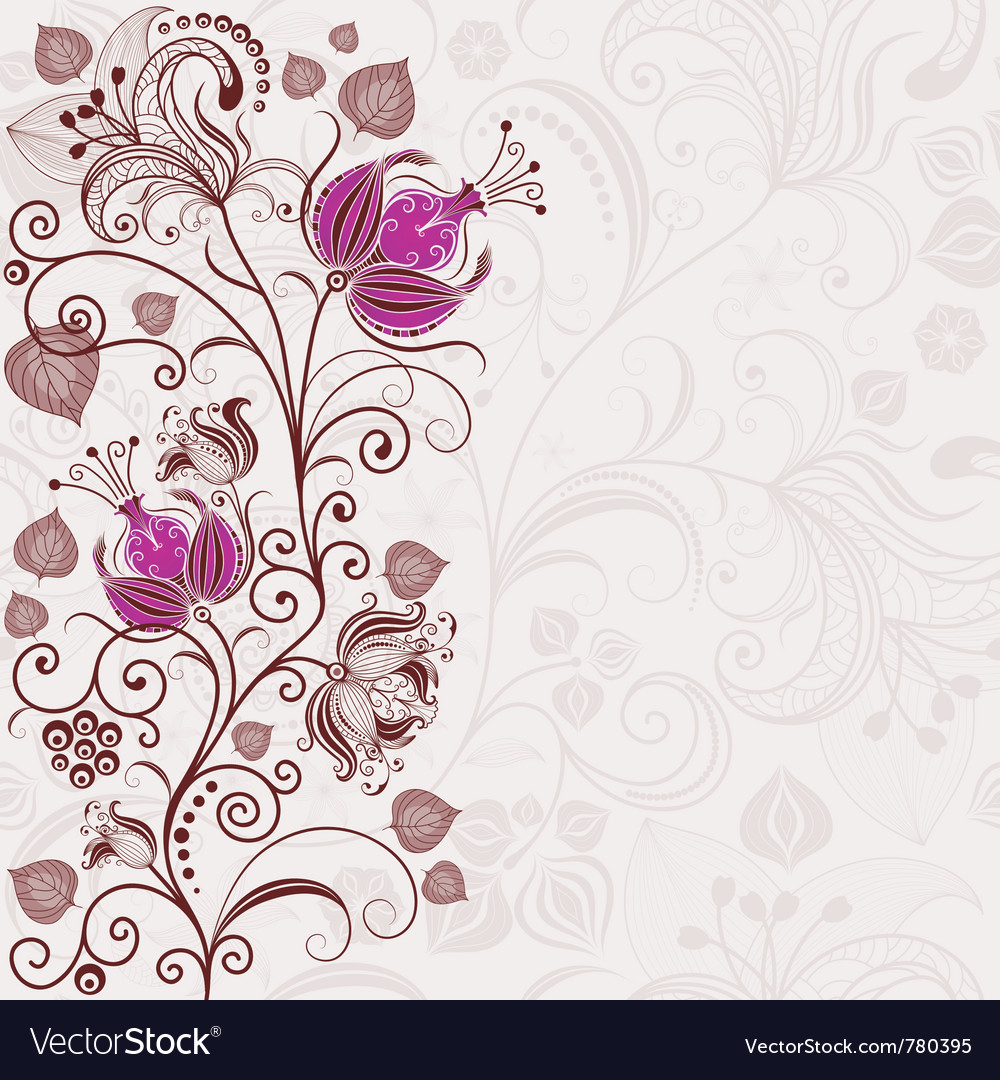 Gentle floral easter frame vector image