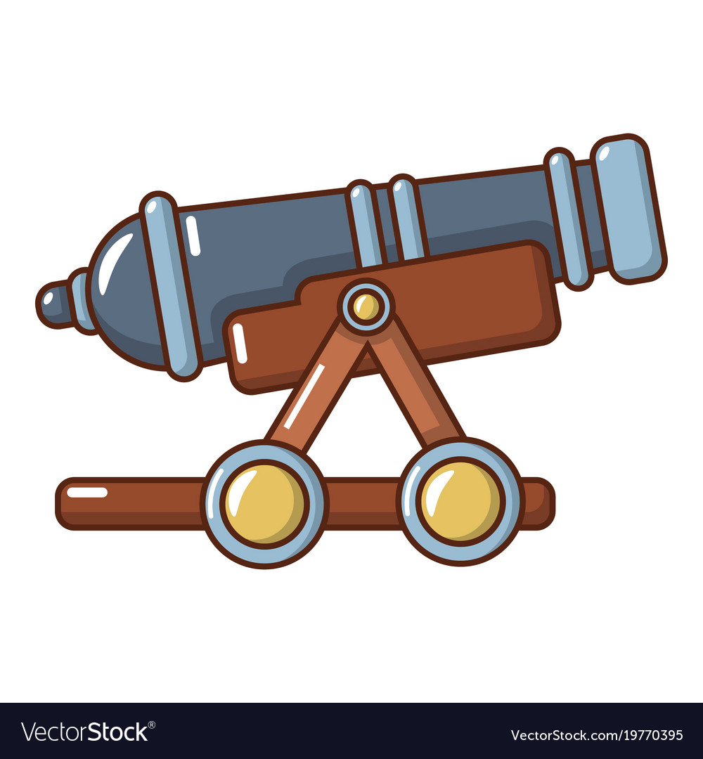 enemy cannon icon cartoon style royalty free vector image