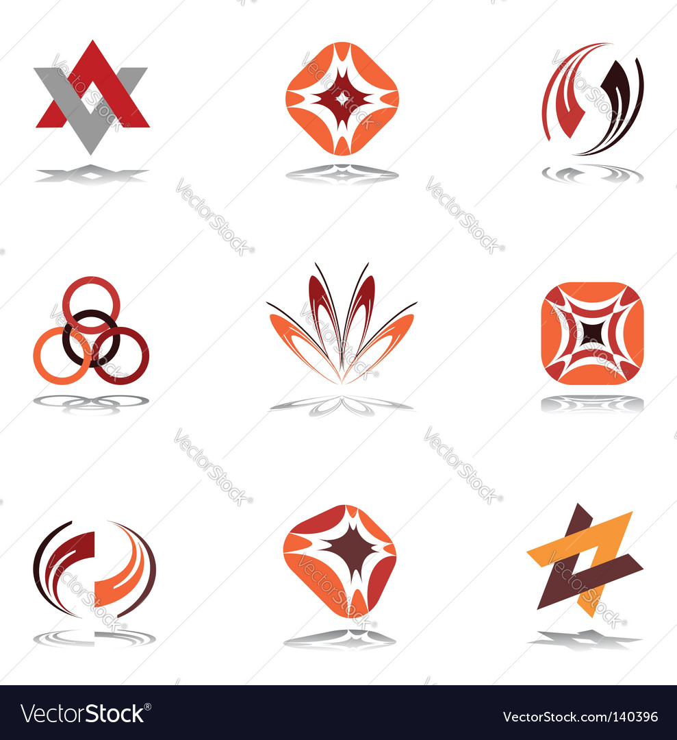Design elements in warm colors vector image