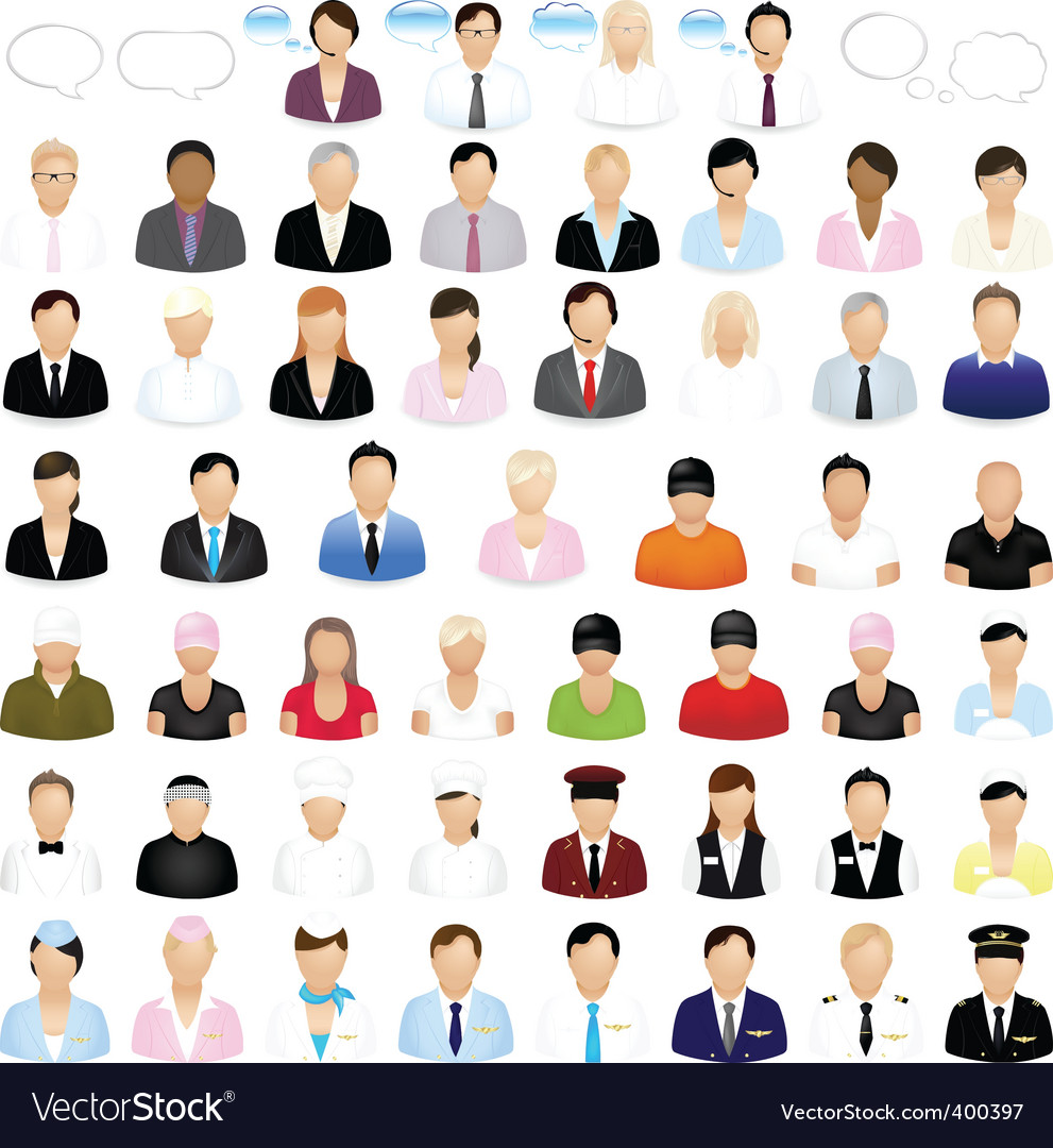 Icons of people Vector Image