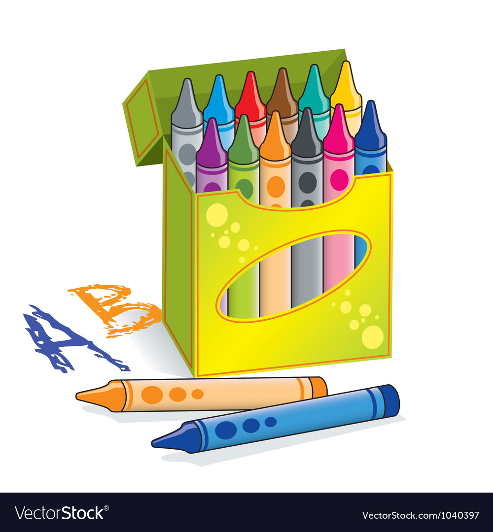 crayons vector image - Cartoon Pictures Of Crayons