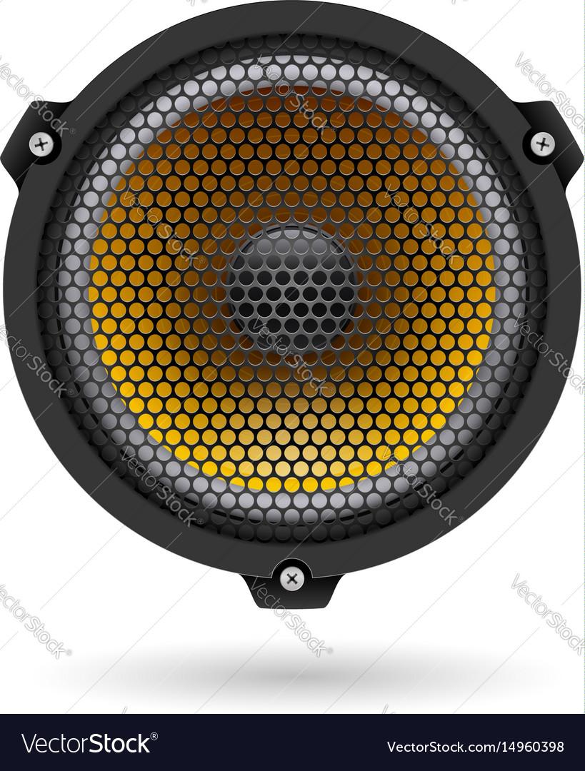 Realistic speaker on white for design vector image