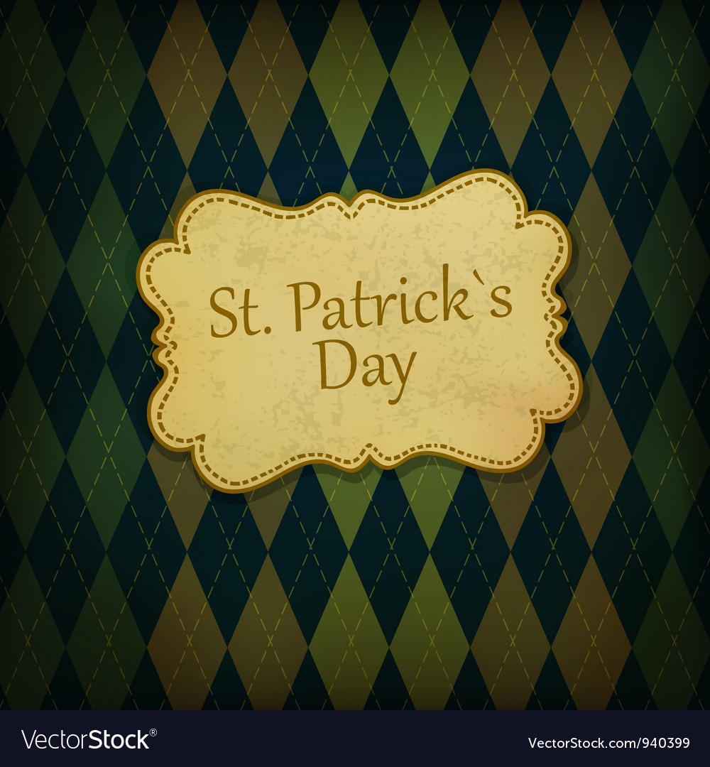 St patrick holiday background Vector Image