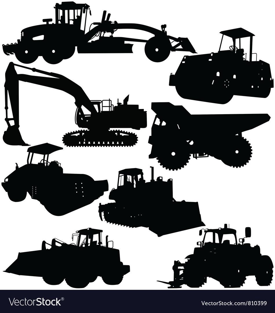 Construction Equipment vector image