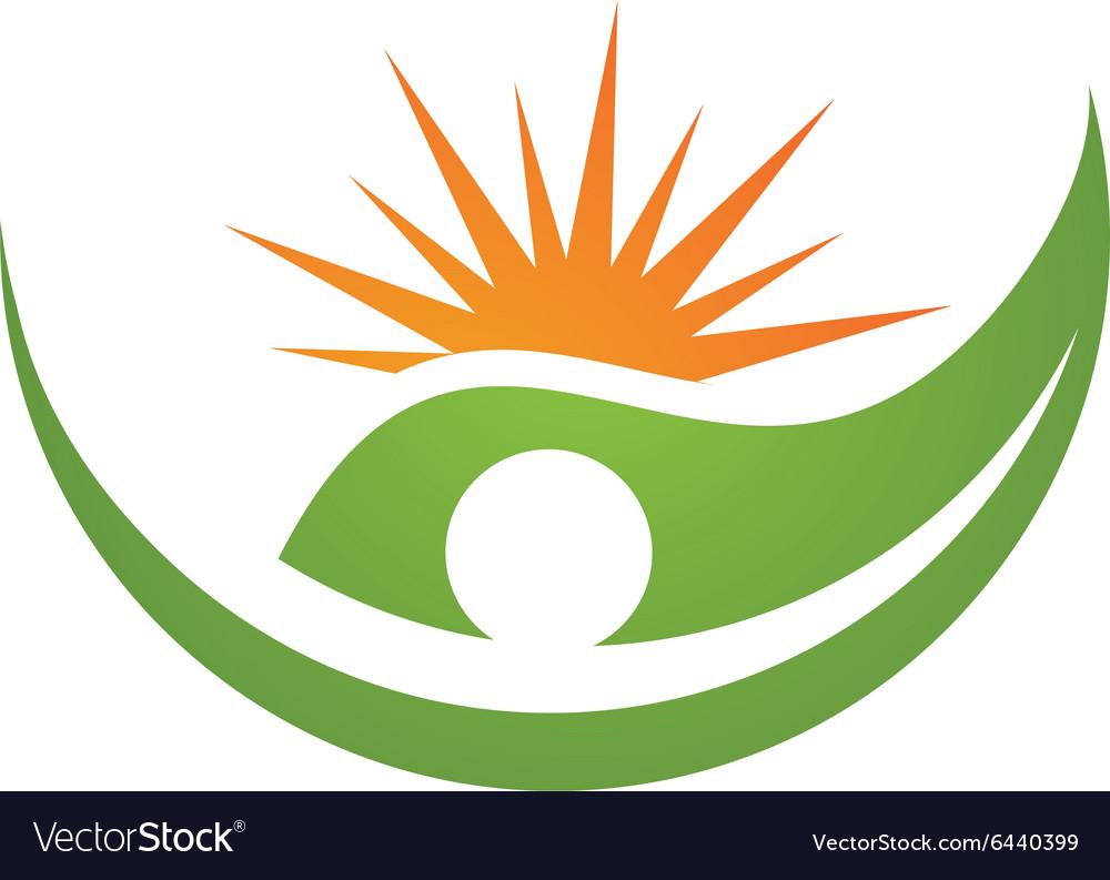 Eco Leaf Logo vector image