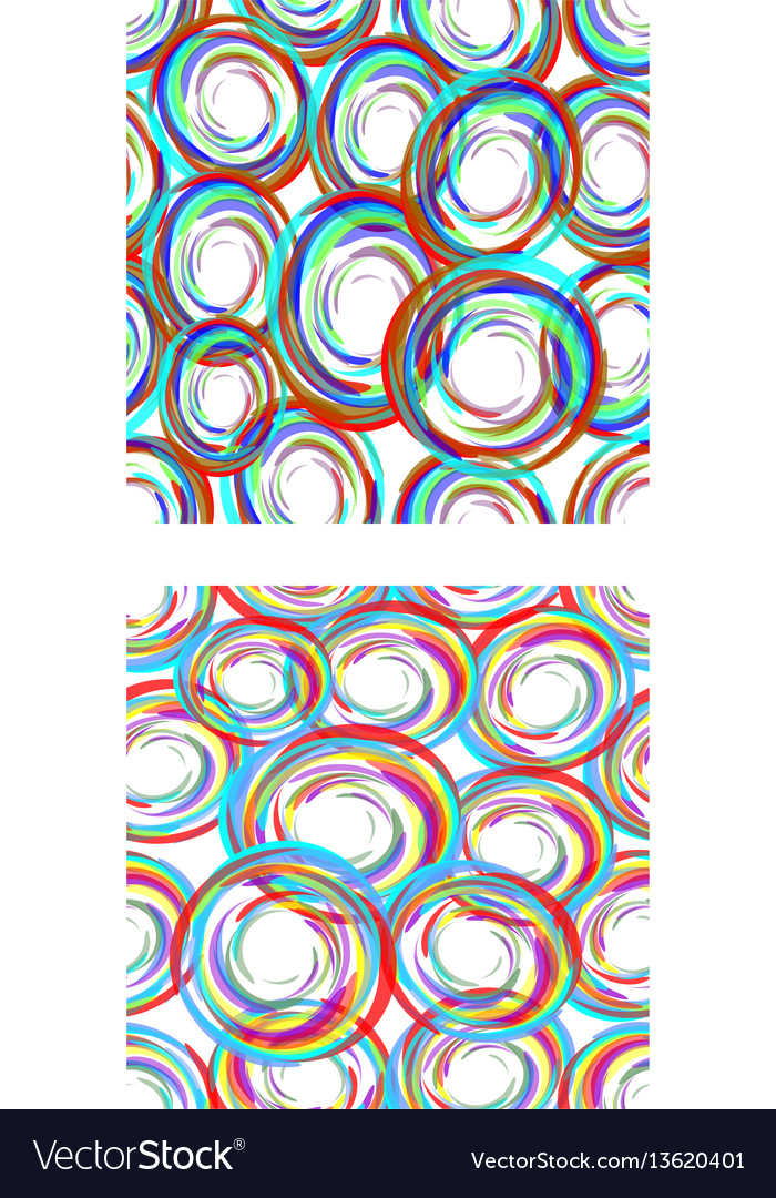 Abstract seamless circle patterns in modern grunge vector image