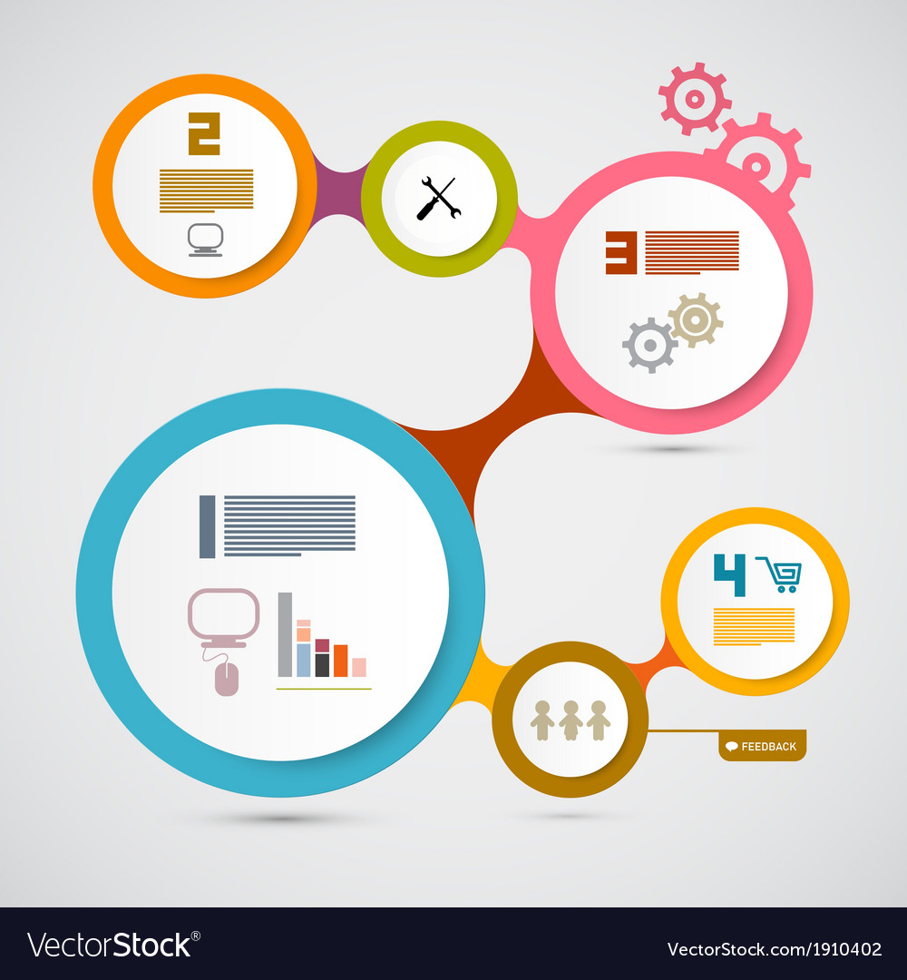 Web Template - Circle Paper Infographic Layout vector image
