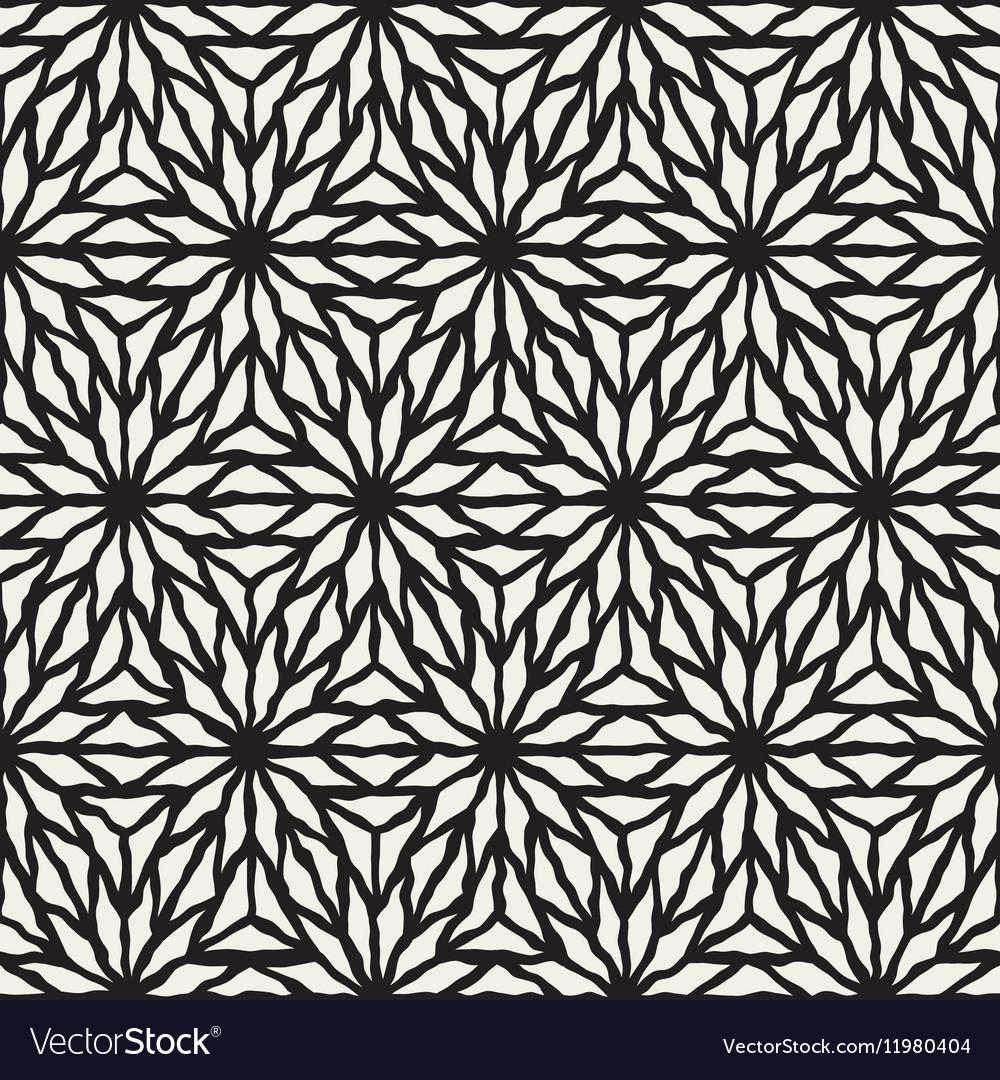 Seamless Hand Painted Line Geometric Star vector image