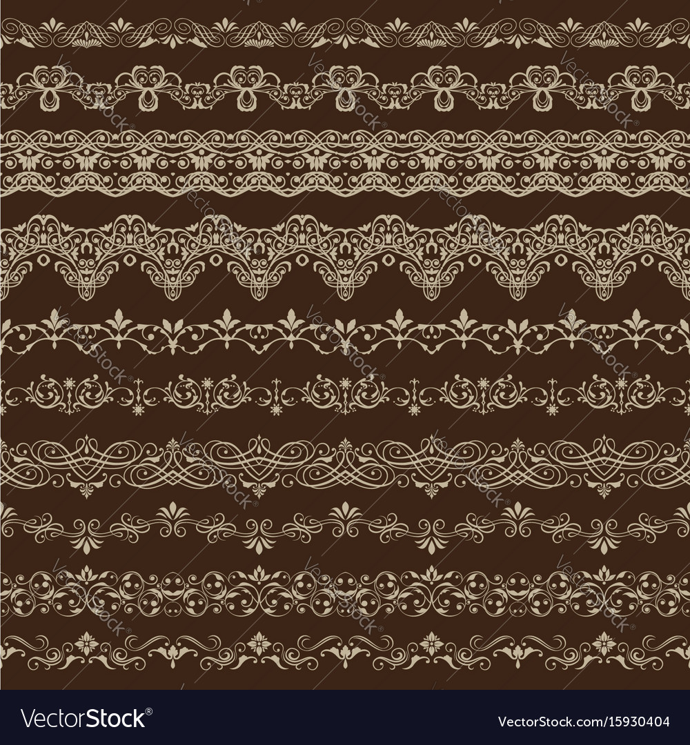Vintage seamless ornament vector image