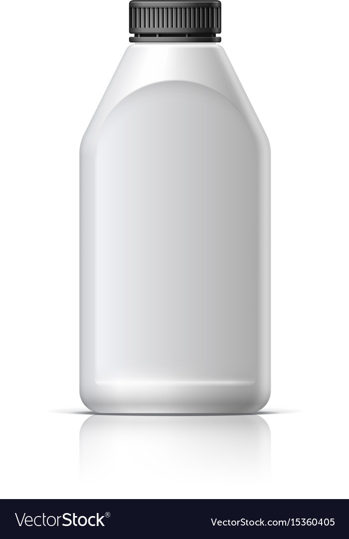 Blank bottle realistic on white background vector image
