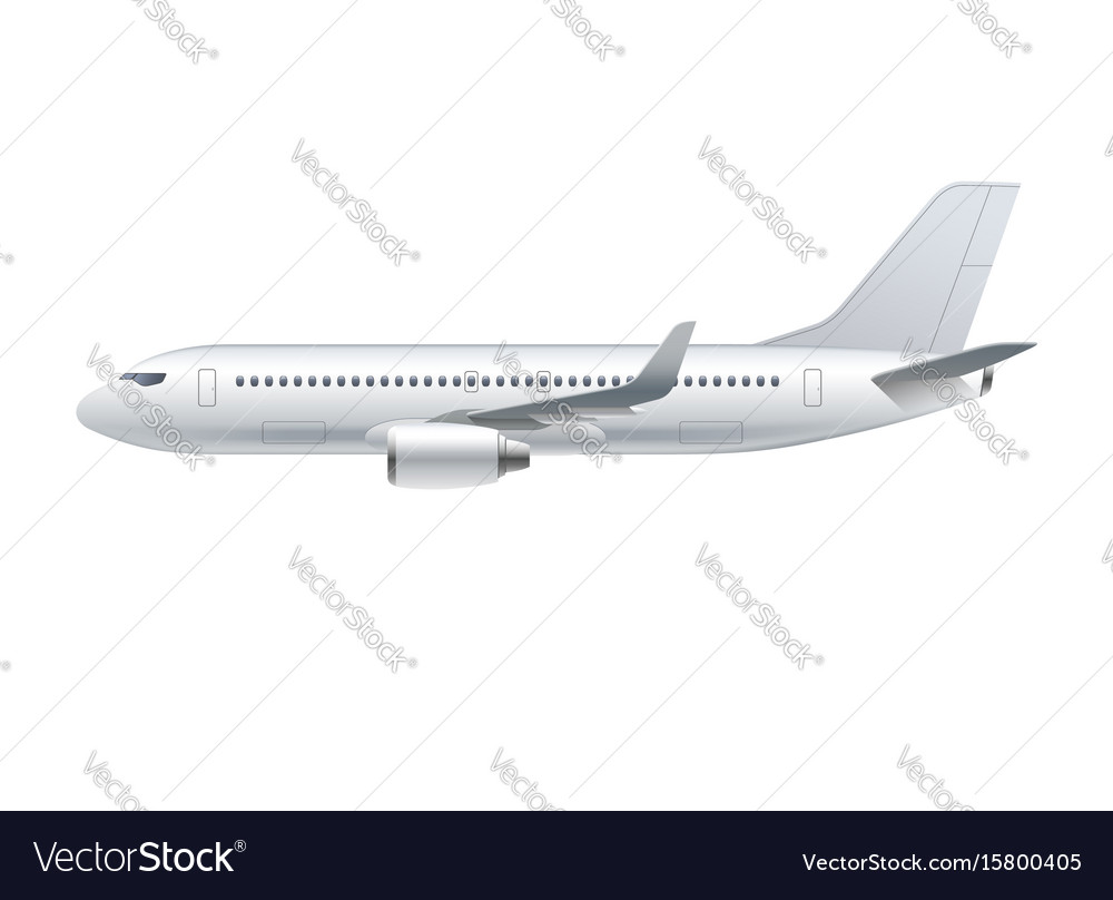 Flying airplane jet aircraft airliner vector image