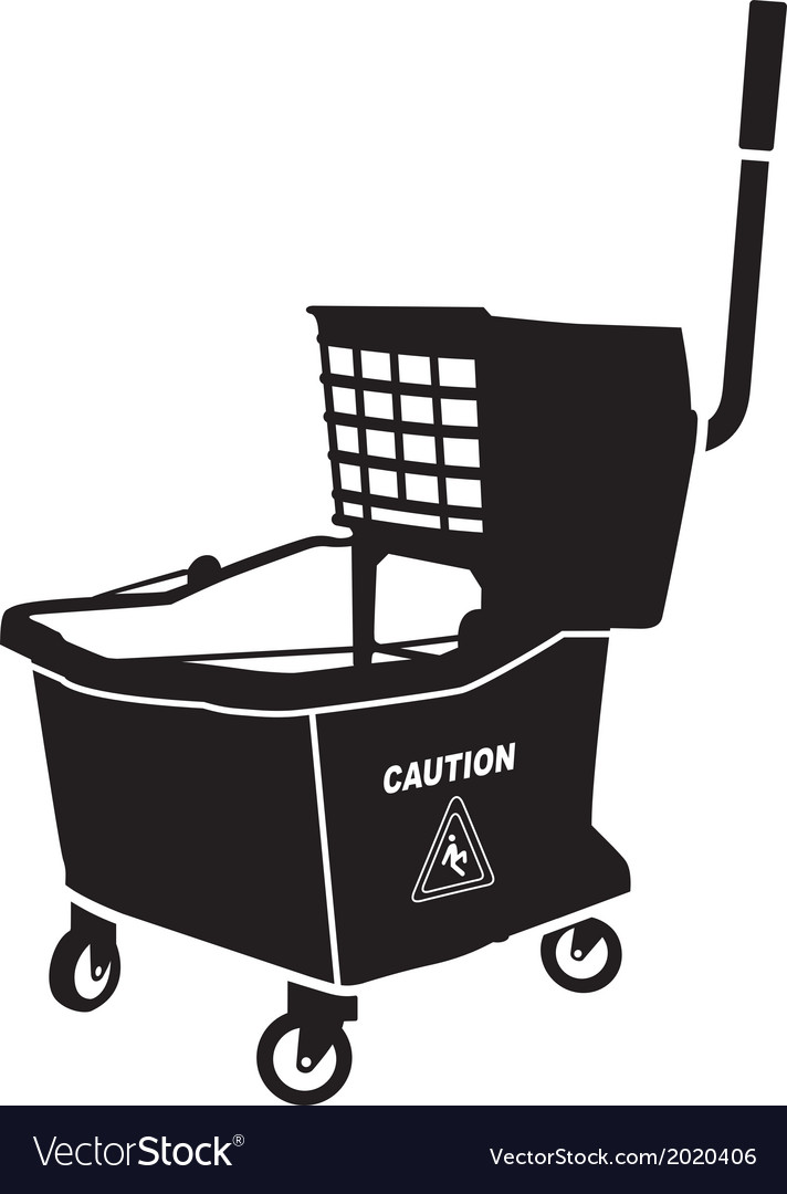 Mop bucket vector image