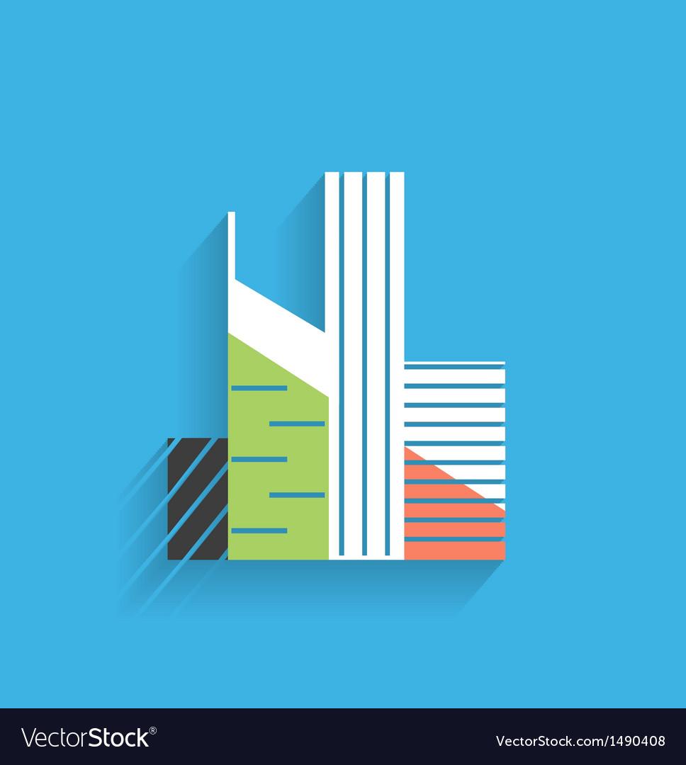 Skyscraper icon modern flat design vector image