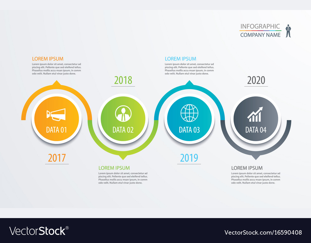 Circle Timeline Infographic Template Business Vector Image - Timeline infographic template