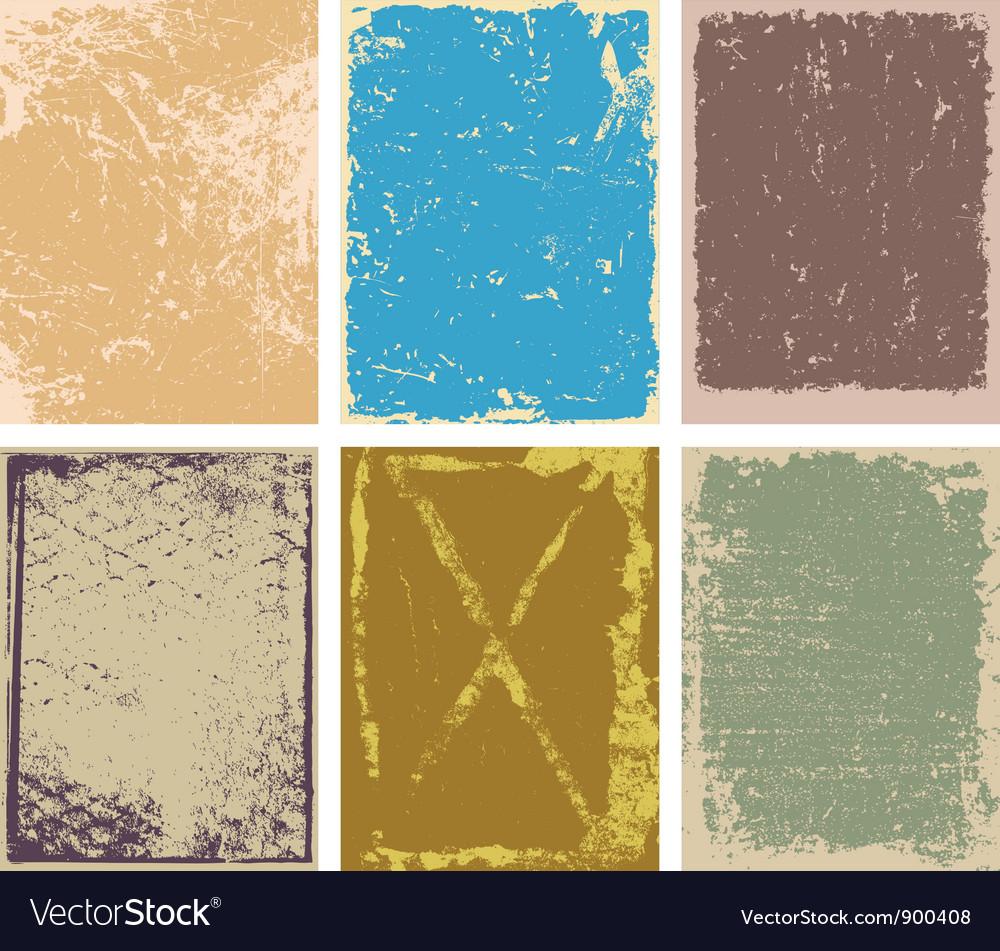 Grunge Backgrounds Vector Image