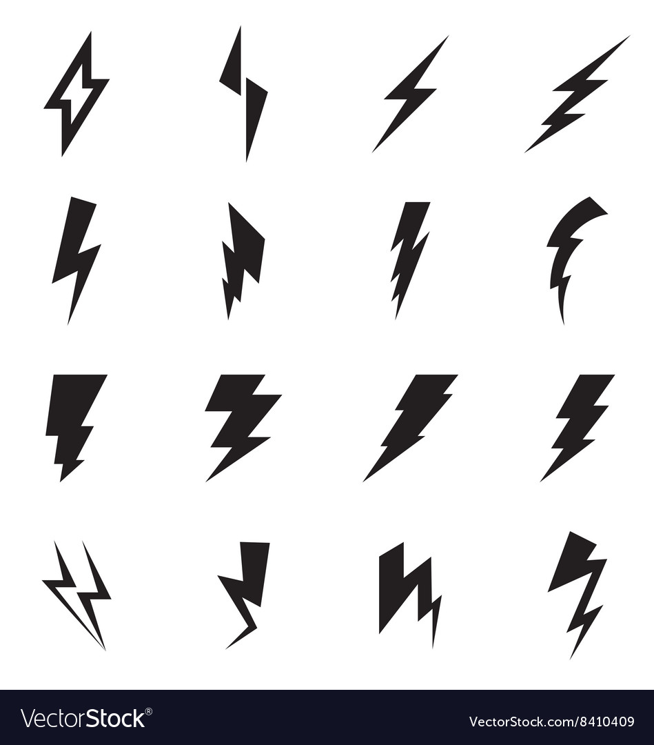 Lightning bolt icon Royalty Free Vector Image - VectorStock for Vector Lighting Bolt  585eri