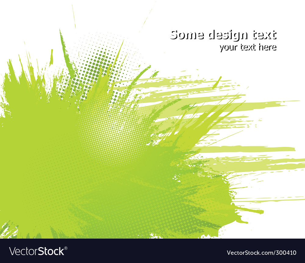 Abstract paint splashes vector image