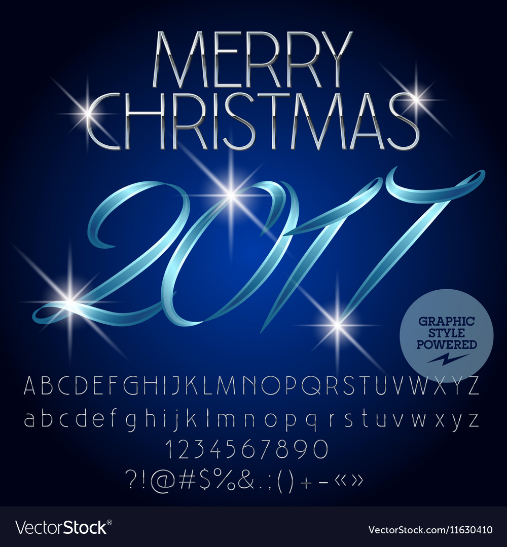 Magical Merry Christmas 2017 greeting card vector image