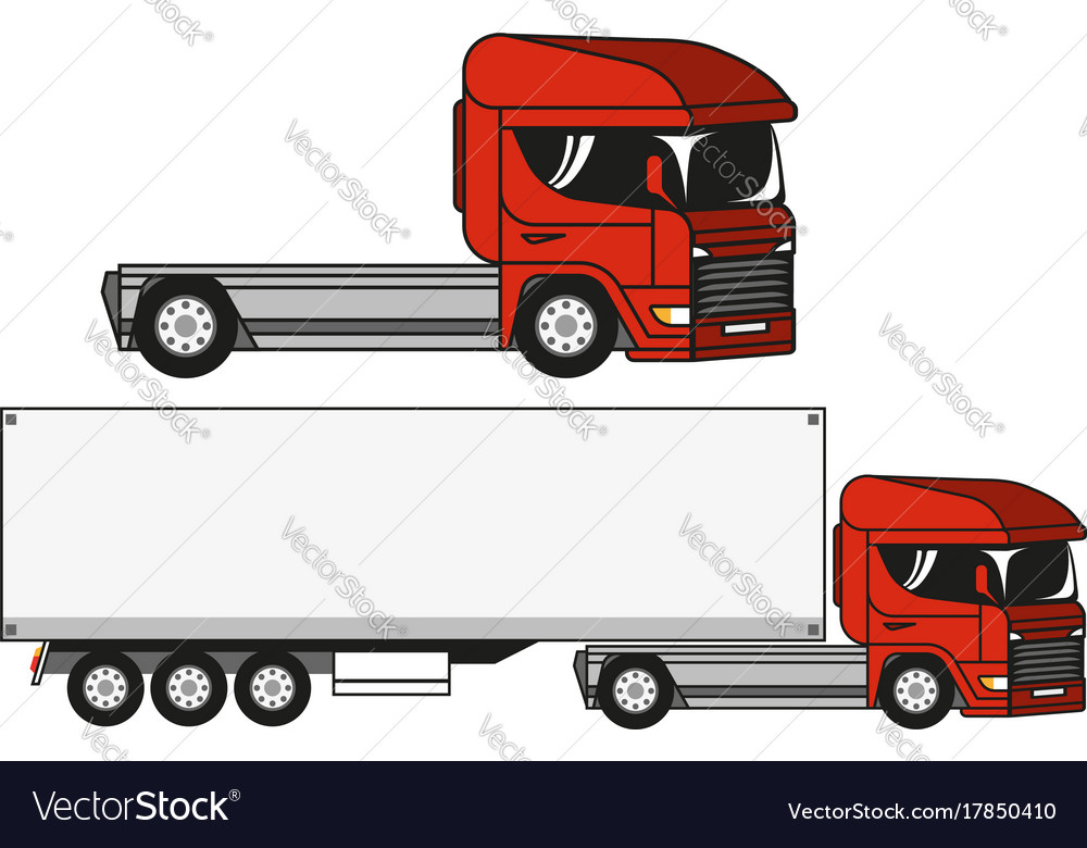 Two trucks vector image