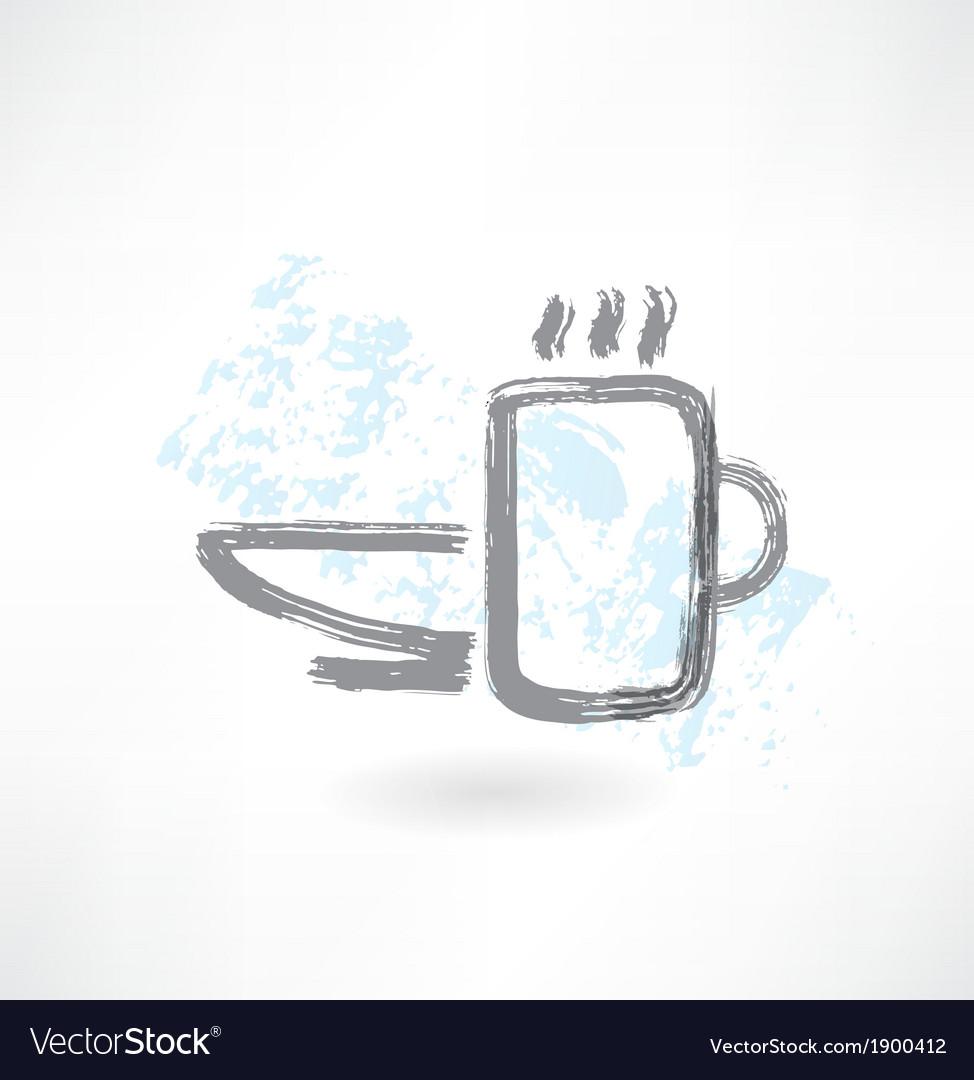 Tableware grunge icon vector image