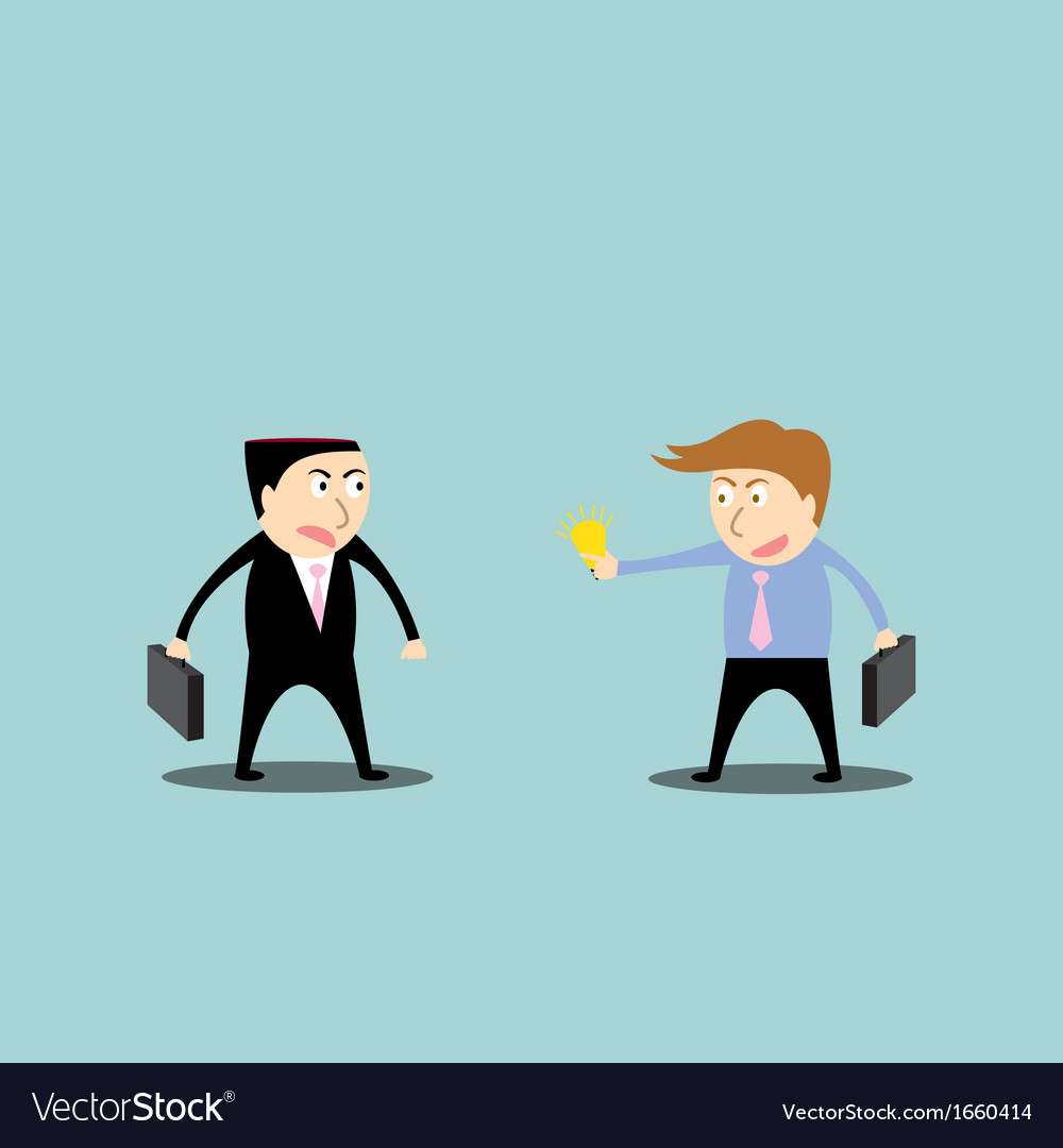 Businessman trading ideas vector image