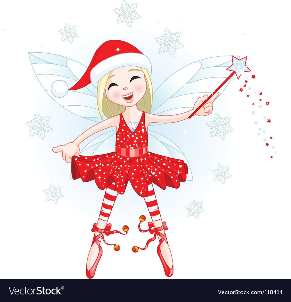 Christmas fairy Royalty Free Vector Image - VectorStock