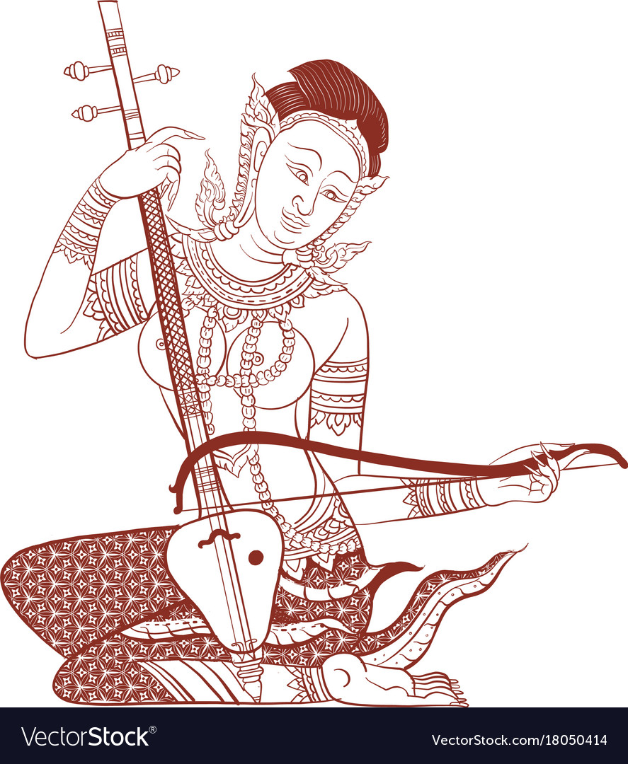 Thai traditional tattoo vector image