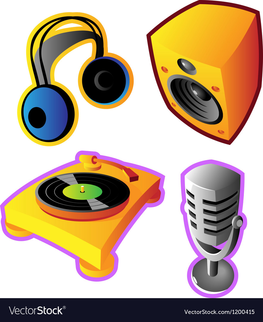 Colorful music and sound Vector Image