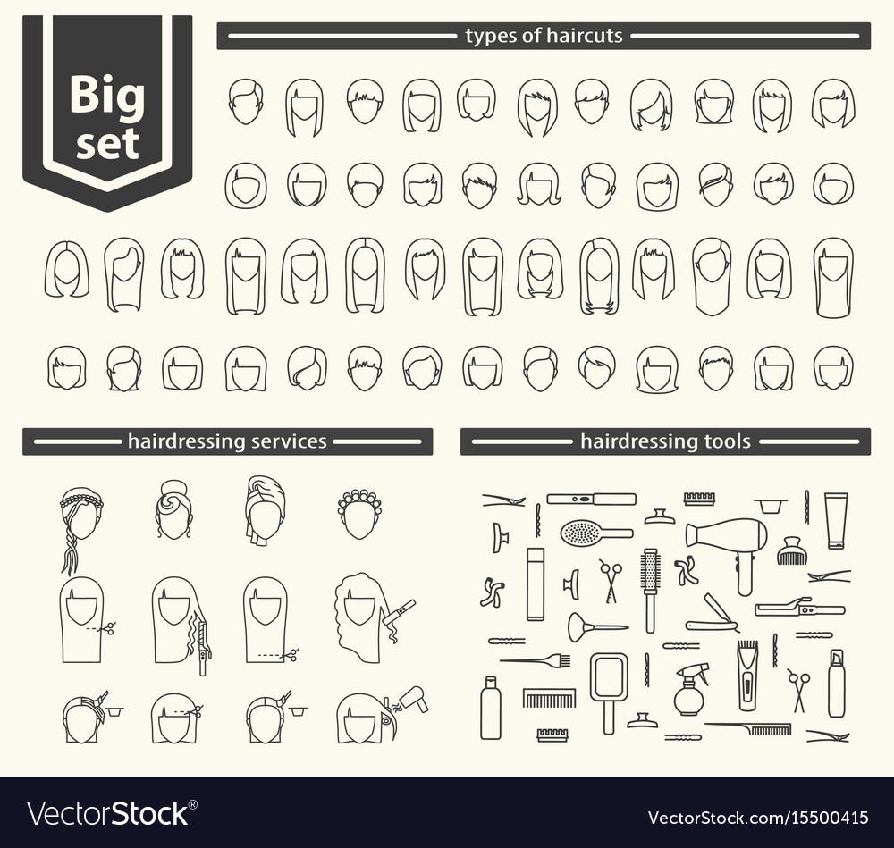 Big set - barbershop vector image