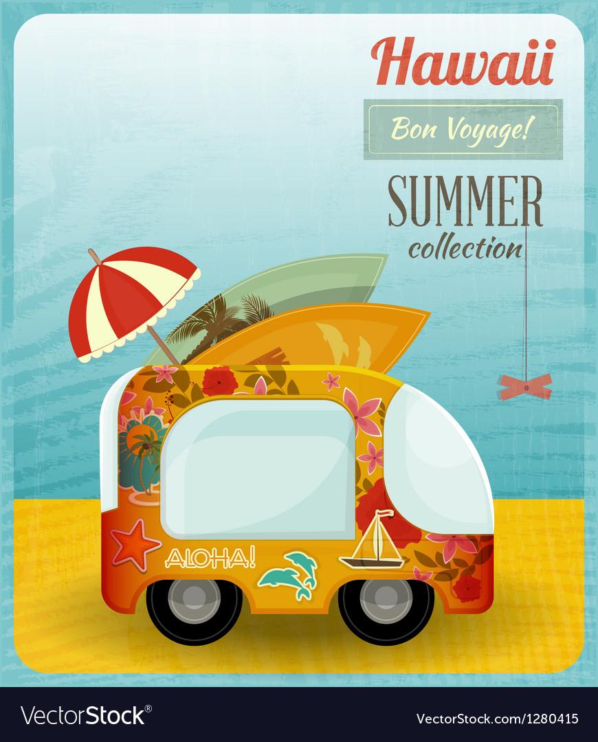 Hawaii Card Bus vector image