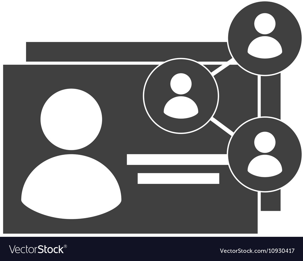 Id card with social media icon vector image