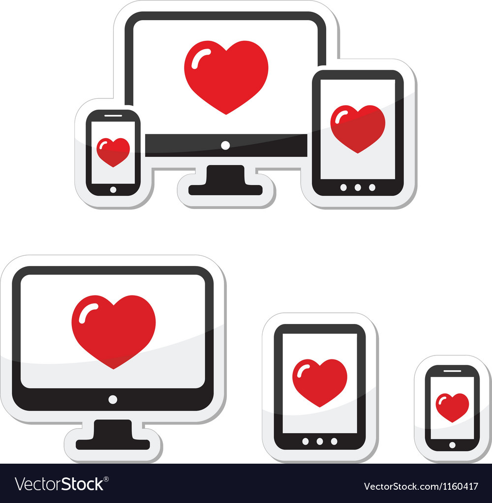 Responsive design icons monitor phone tablet vector image