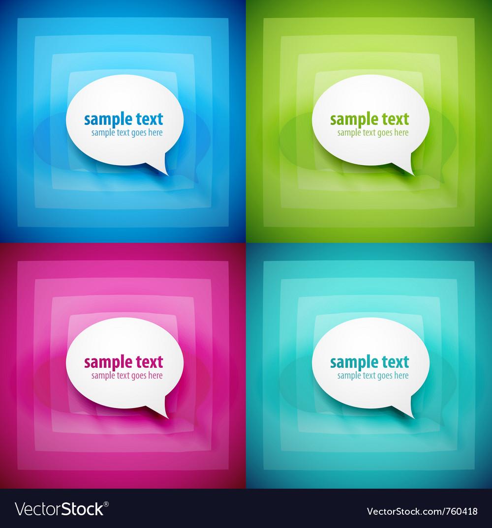 Paper speech bubble background set vector image