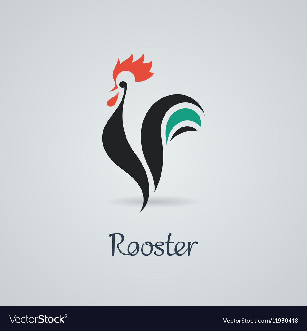 Rooster cock chicken vector image