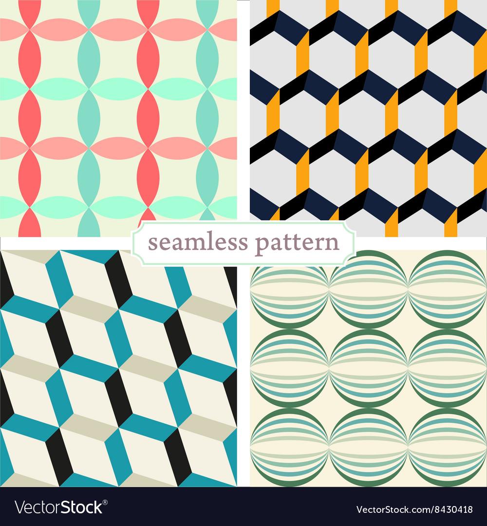 Seamless pattern set2 vector image