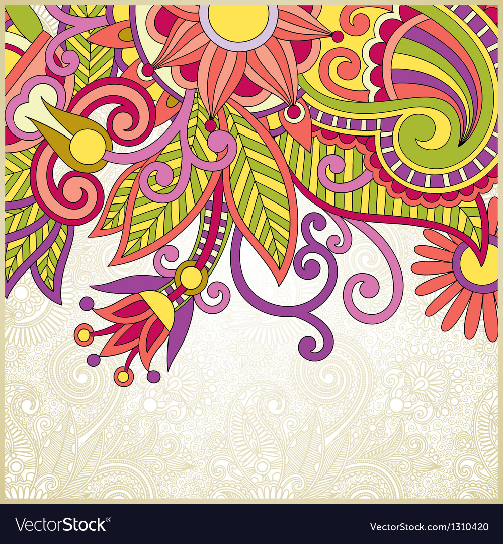 Ornate abstract floral background vector image