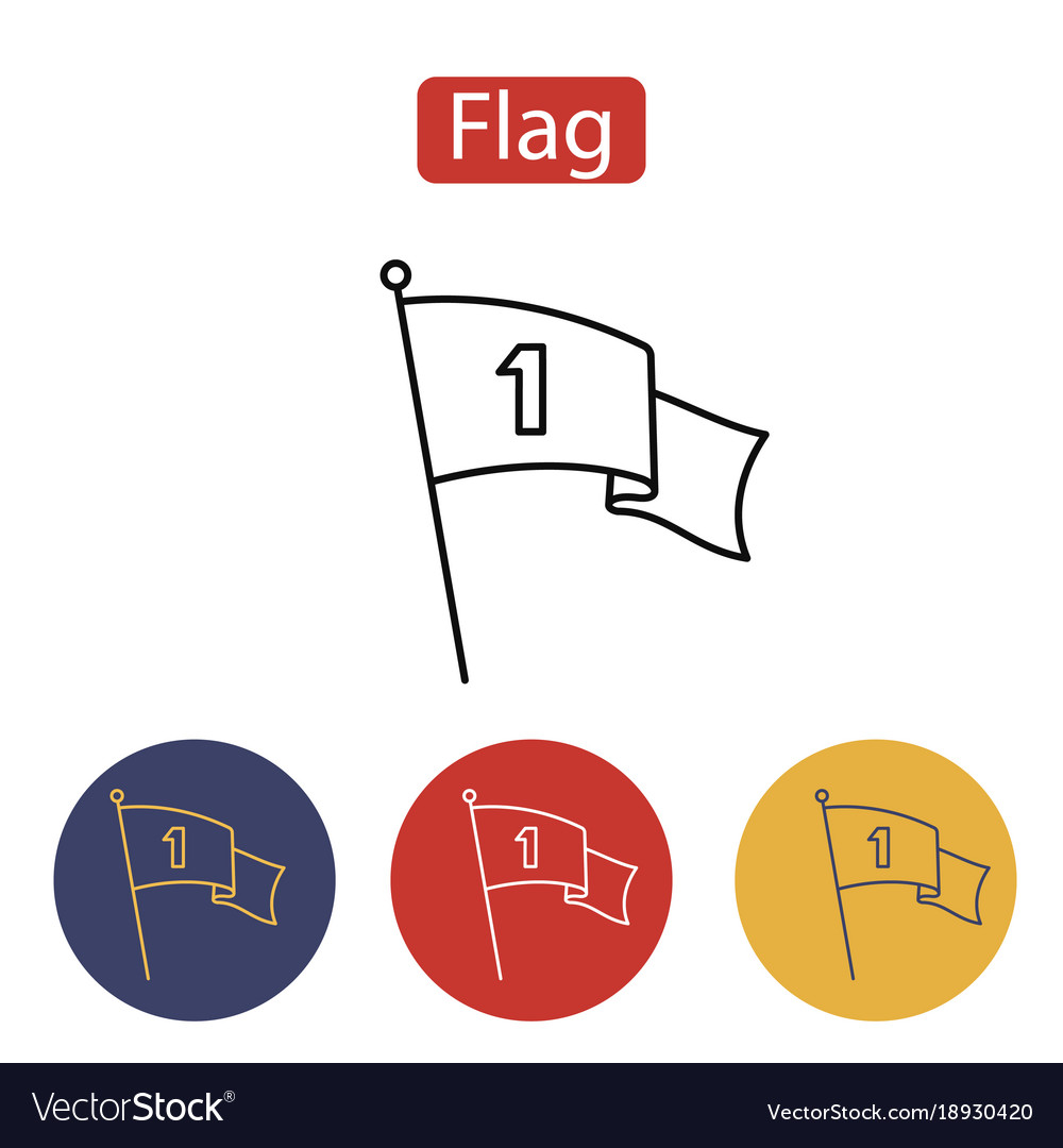 Flag icon the banner sign vector image
