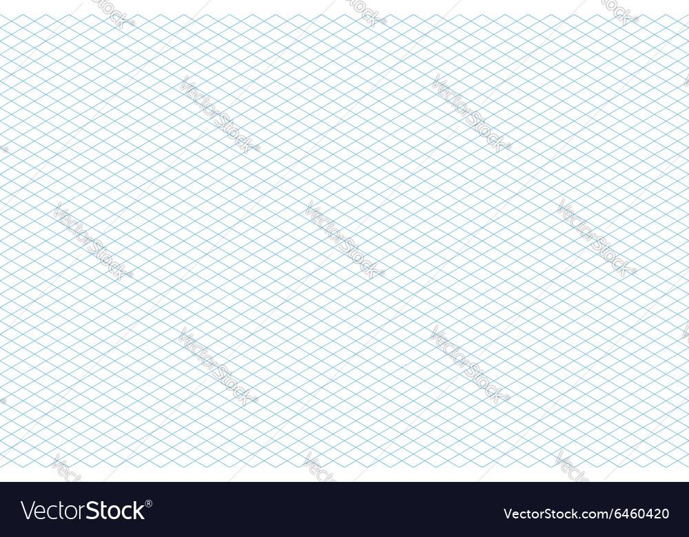 Template Seamless Isometric Grid Pattern Vector Image