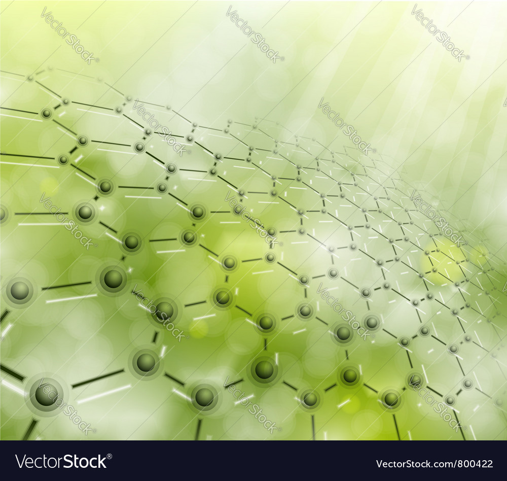 Abstract molecular background vector image