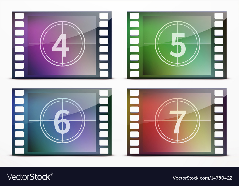 Film screen countdown vector image