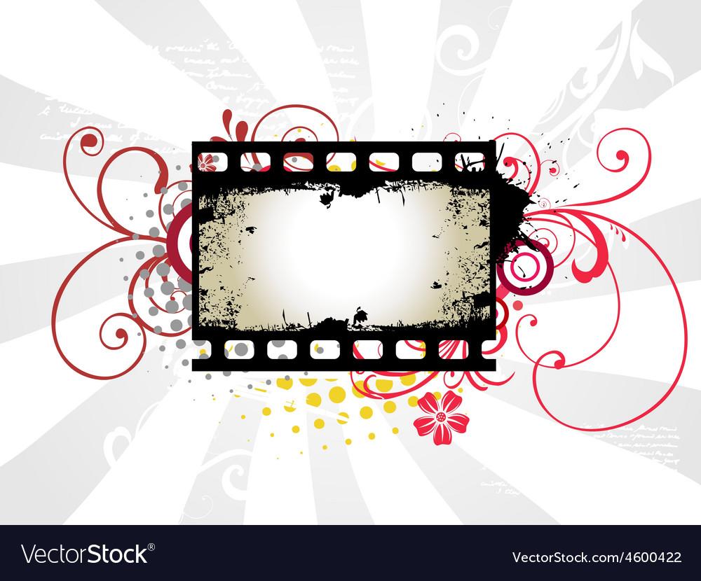Photo reel art vector image