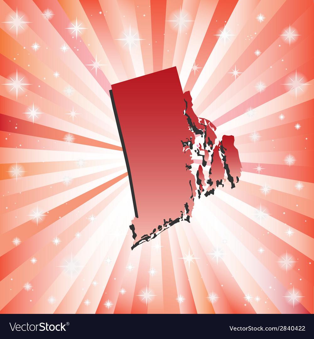 Red Rhode Island vector image