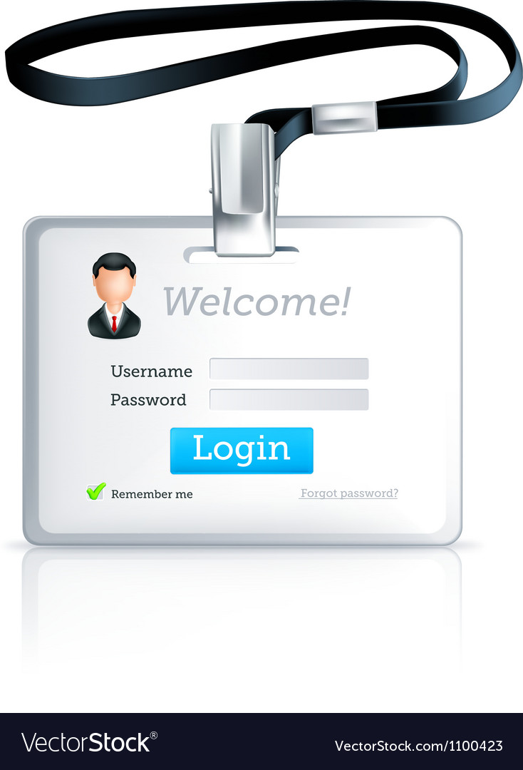 Log in form vector image